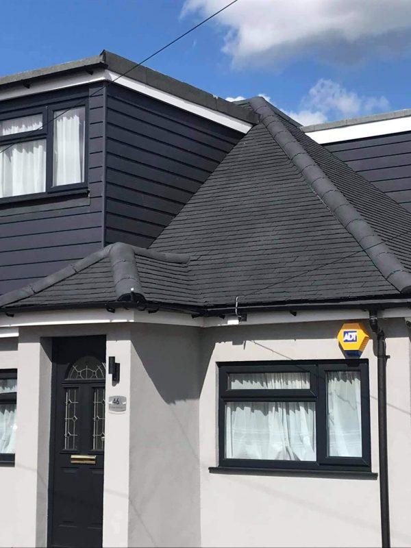 Spray cork waterproof roof coating 2 after