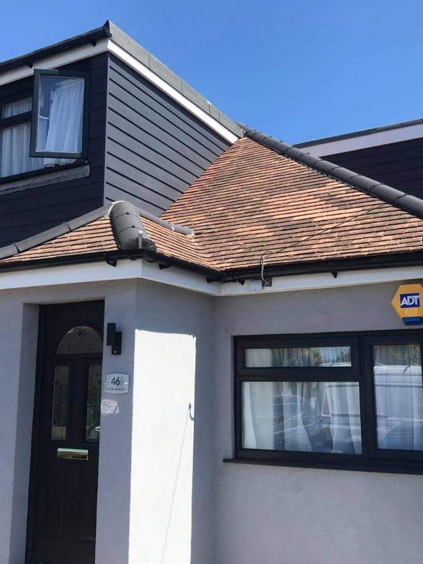 Spray cork waterproof roof coating before 1
