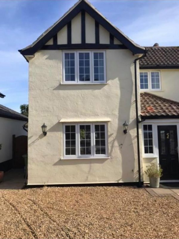 Corkfill and over spray by Luke Field of Wall Coating Solutions in Holt, Norfolk 2