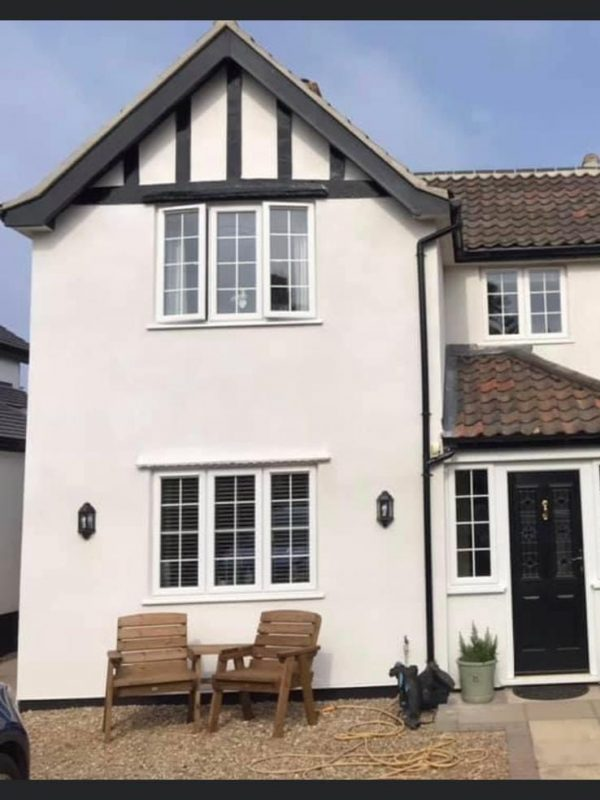 Corkfill and over spray by Luke Field of Wall Coating Solutions in Holt, Norfolk 3