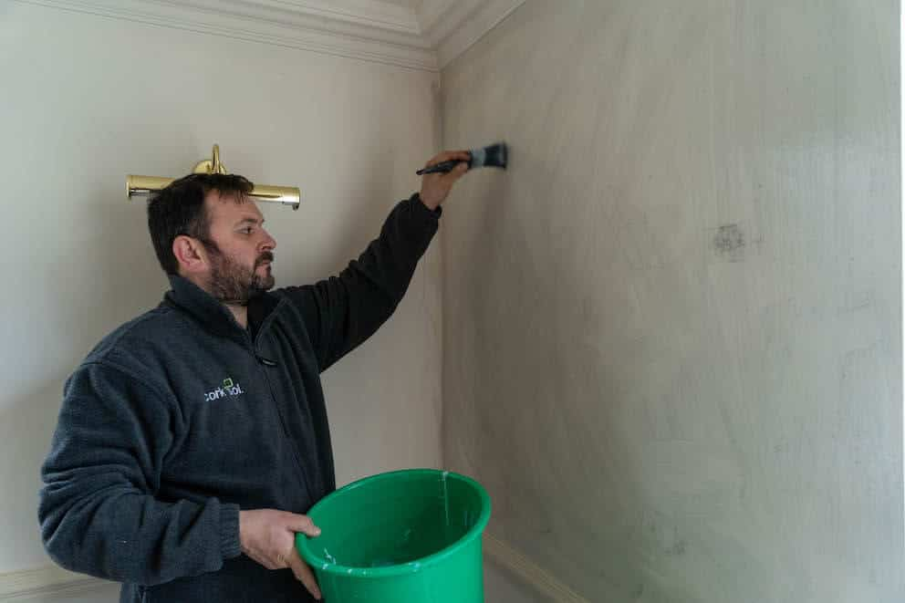 Application of quick drying primer