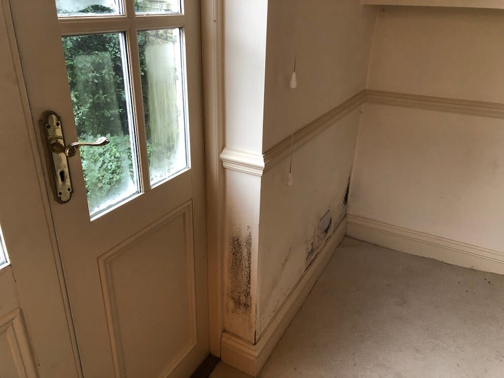 Mould and condensation problems around window